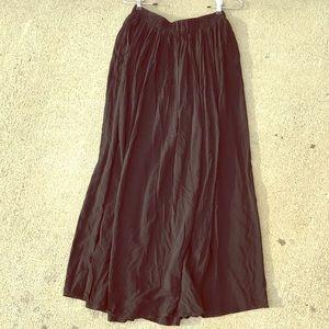 Lightweight black maxi skirt